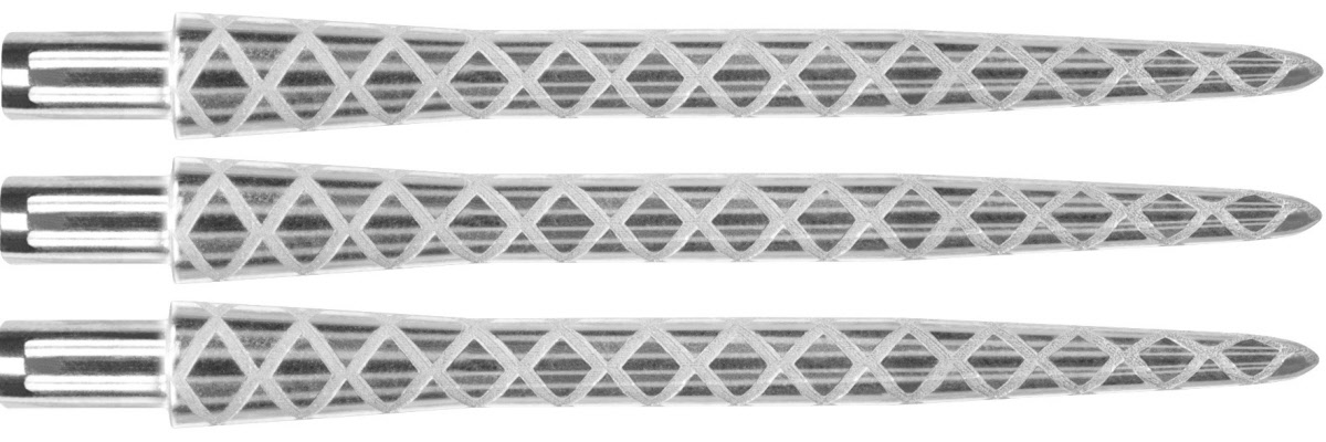 New Pro Point Silver Dart Points 3 x Target Diamond Etched Titanium Coating