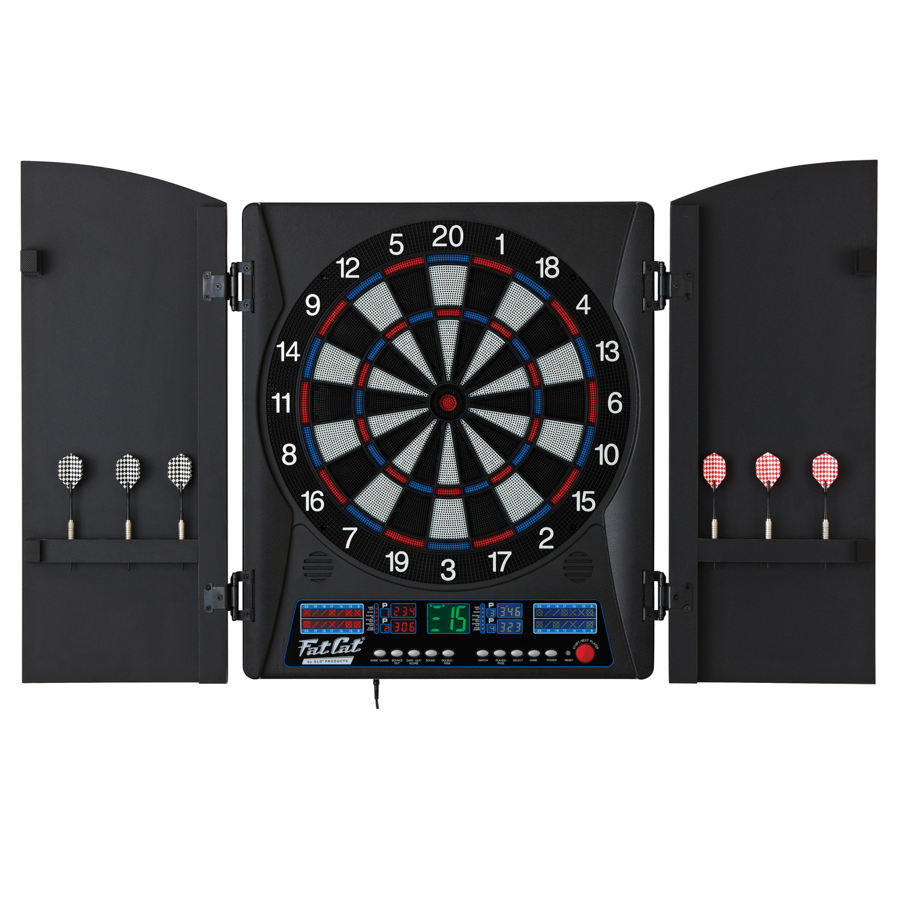 Luxury Electronic Dart Board with Cabinet
